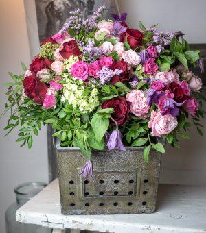Bild zeigt Blumenstrauß Pastell